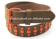 fashion plastic bead pyramid stud belt YJ1646-1