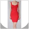 Beam waist butock packet bandage women red beautiful lady fashion dress