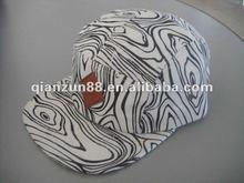 Fashion pattern zebras design five panel customised snapback hats
