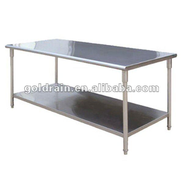 De acero inoxidable mesa de trabajo con ruedas - Mesas de trabajo para cocina ...