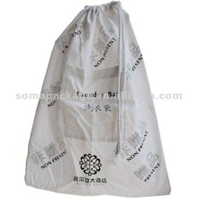 2012 Hot sale cotton drawstring laundry bags