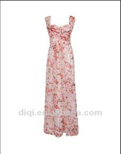new fashion maxi printing long ladies dresses in summer
