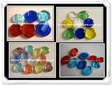 Mixed Flat Glass Beads For Aquarium Decoration