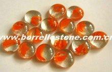 Orange Glass Beads For Aquarium