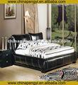 couro macio cama mobília do quarto