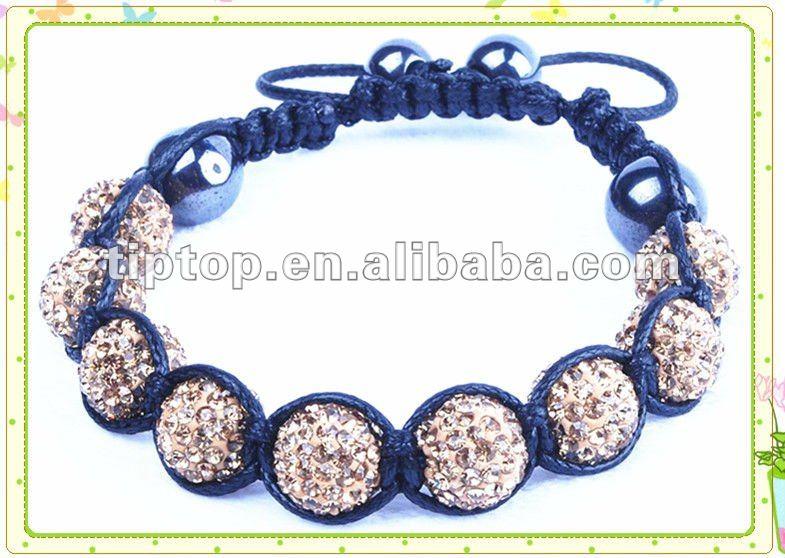 Nouvelle PERLE DE SHAMBALLA avec FIMO perles et pierres jaunes