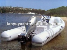 rigid inflatable boat with motor