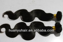 Remy Body Weav 100% Human Indain Unprocessed Vrigin Hair Weft/Raw Stock Hair Weaving