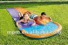 PVC inflatable double splash water slide