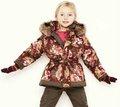 Yeni stil kız pamuk ceketler, heriki tarafta aşınma kapüşonlu mont