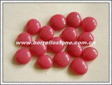 Flat Pink Glass Beads For Aquarium