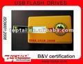 32 GB la capacidad verdadera Platic giratoria de la tarjeta de crédito USB de memoria Flash