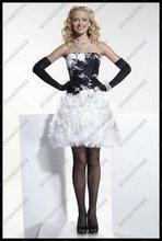 Graceful A-Line Discount Little Black Cocktail Dress PS-591