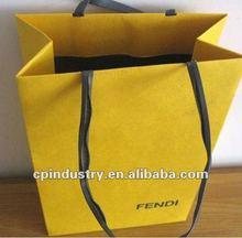 Yellow classics paper shopping bag