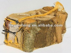 pp leno mesh bags/net bags for firewood with UV 50x70cm