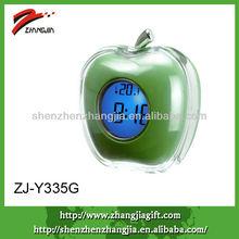colorful digital apple shaped clock