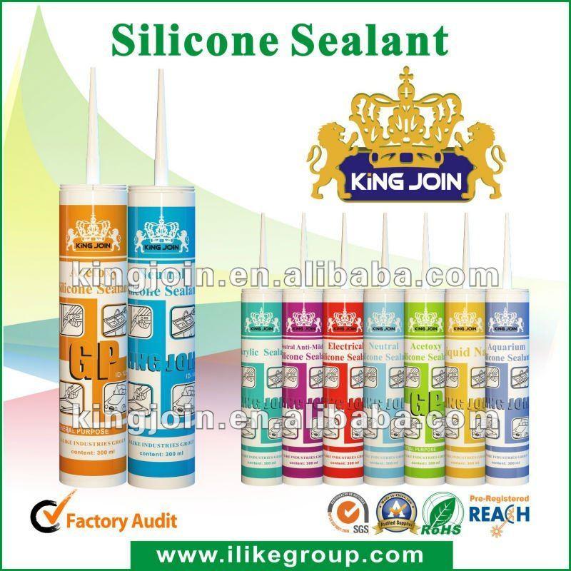 De silicio de pegamento de cristal, sellador de silicona ( certificados tuv, sgs& bv fábrica auditada )