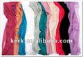L'usine stocke le long châle d'écharpe de MOUSSELINE DE SOIE pleine, peut porter comme Hijab, stockent beaucoup de couleurs avec le prix de gros
