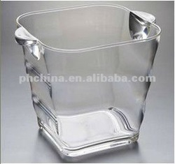AWC-230 Transparent Plastic Ice Bucket,Clear Ice Cooler