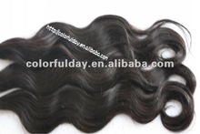 AAA quality unprocessed machine made hair attachment and weaving