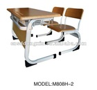 modern wooden school desk and chair M808H-2