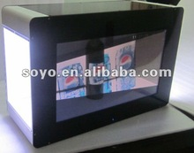2012 hot 17.3'' Transparent LCD display box