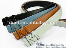 Man genuine leather belt with Alphabet Buckle