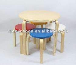 Cheap Wooden Children Table and Stool Set