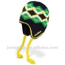 men's knit peruvian earflap hat