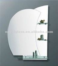 beveled frameless glass mirror, clear/colored/tinted bathroom/decorative/arched mirror with CE