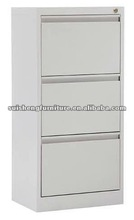 Three-drawers office file locking steel furniture
