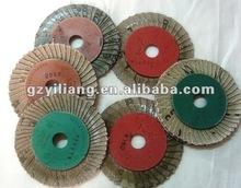 180 grit /320 grit Flower shape Abrasive cloth flap disc for grinding metal surface