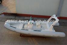 5.8m PVC rigid fiberglass hull Inflatable rib Boat (BL580)CE Approval