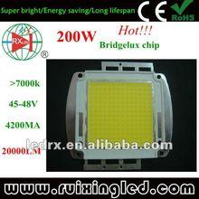high lumen cree/bridgelux/epistar cob 10-200w led chips moudel with heatsink