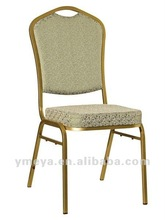 Modern promotion Stackable fabric golden Iron Banquet Chair (YT2026)
