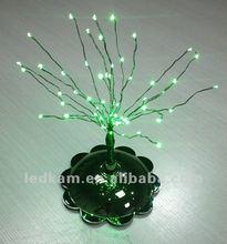 Green color battery powered base mini led tree light,christmas led lighting
