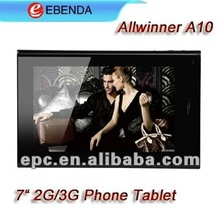 7 inch capacitive a10 phone tablet 1GB/8GB with Android 4 bluetooth
