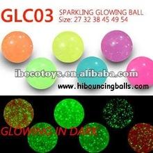 Crystal glowing bouncing ball