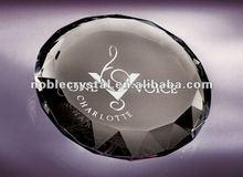 Noble New Logo Engraved Optic Crystal Kaleidoscope Paperweight