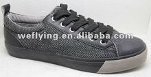 men canvas rubber shoes V53026-1