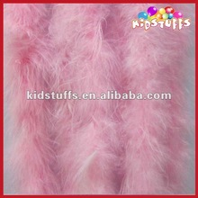 Pink Marabou Feather Boa For Hats, Headdress Dance Costumes, Children Dress Up And Home Decor (2 Yard)