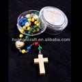 rosario de madera de colores fe rosario de cuentas del rosario religiosa cristiana católica jesús parte accessoies crucifijo de madera