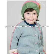 2012 kids winter warm knitting hat,chekered,pompon,beanie