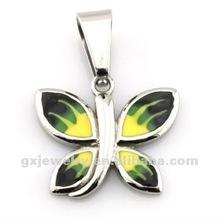 steel butterfly bails pendant