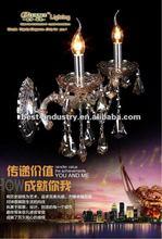 2012 newly design 2 light modern crystal wall night lamp