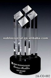 Special Black Base Cultural Cube Crystal Trophy