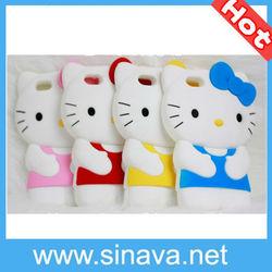 Hot Sale Cute Hello Kitty Silcione Soft Case for iPhone 5