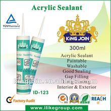 White Economical Washable Acrylic Latex Water Base Caulking Sealants(SGS,REACH)