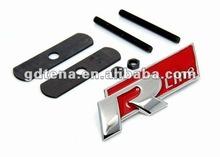 VW R Line 3D Chrome Car Metal Grill Badge / Car Badge