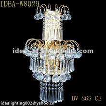 hotel room wall light,indoor modern crystal wall lamp